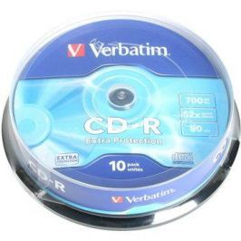 GO117b - Verbatim CD-R DataLife Protection 52x, 10ks cakebox CD-R